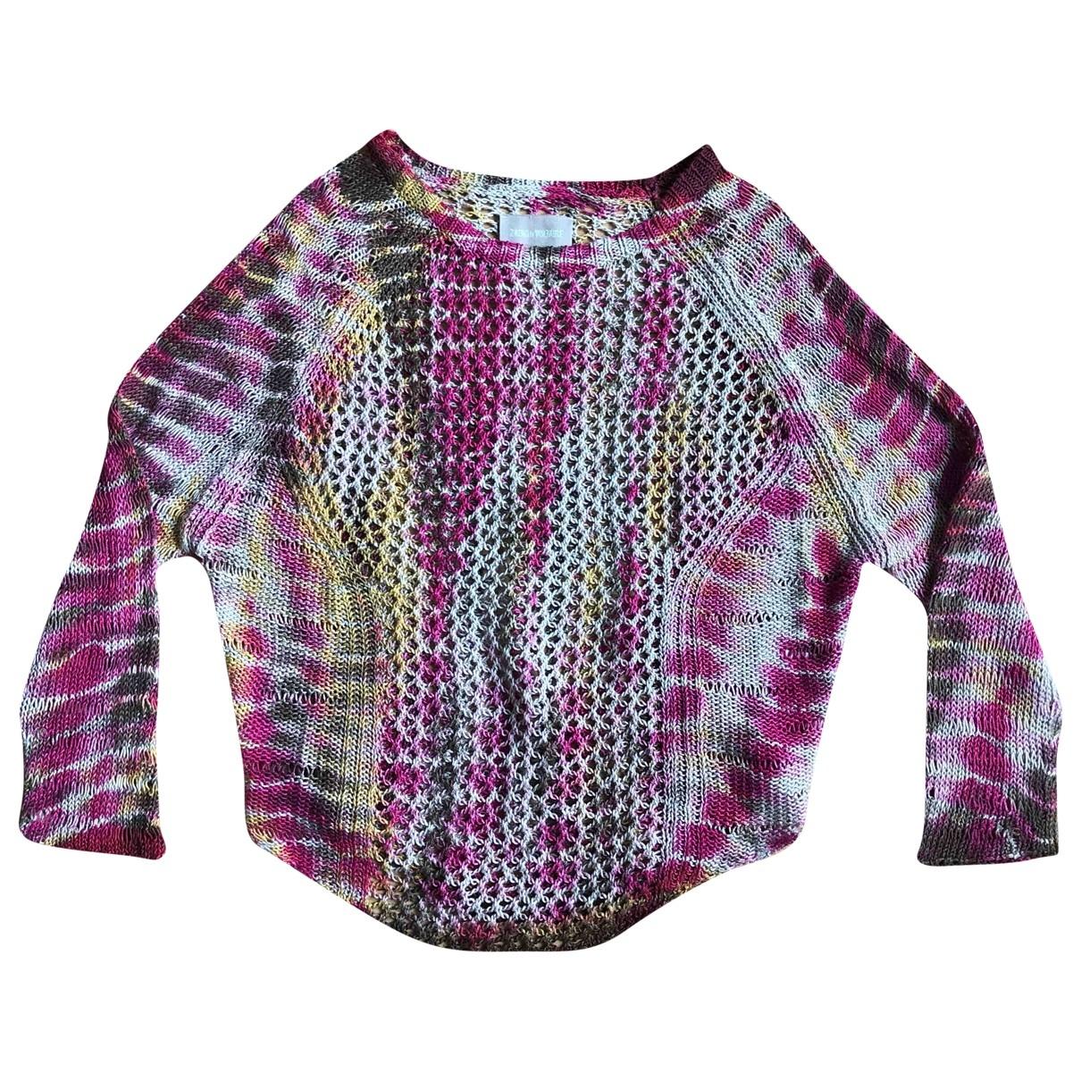 Zadig & Voltaire \N Pullover in  Rosa Leinen