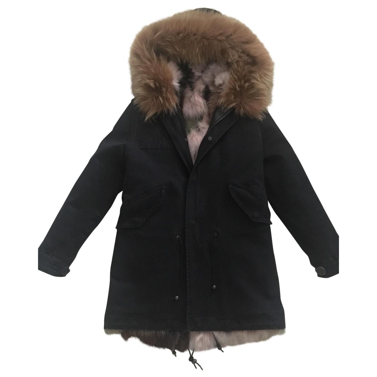 Mr & Mrs Italy - Manteau   pour femme en racoon - noir