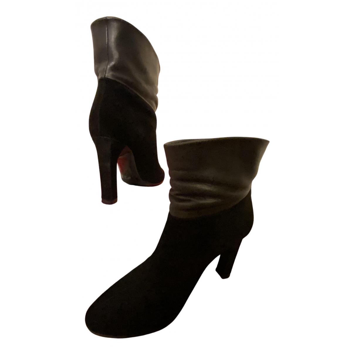 Michel Vivien - Boots   pour femme en suede - noir
