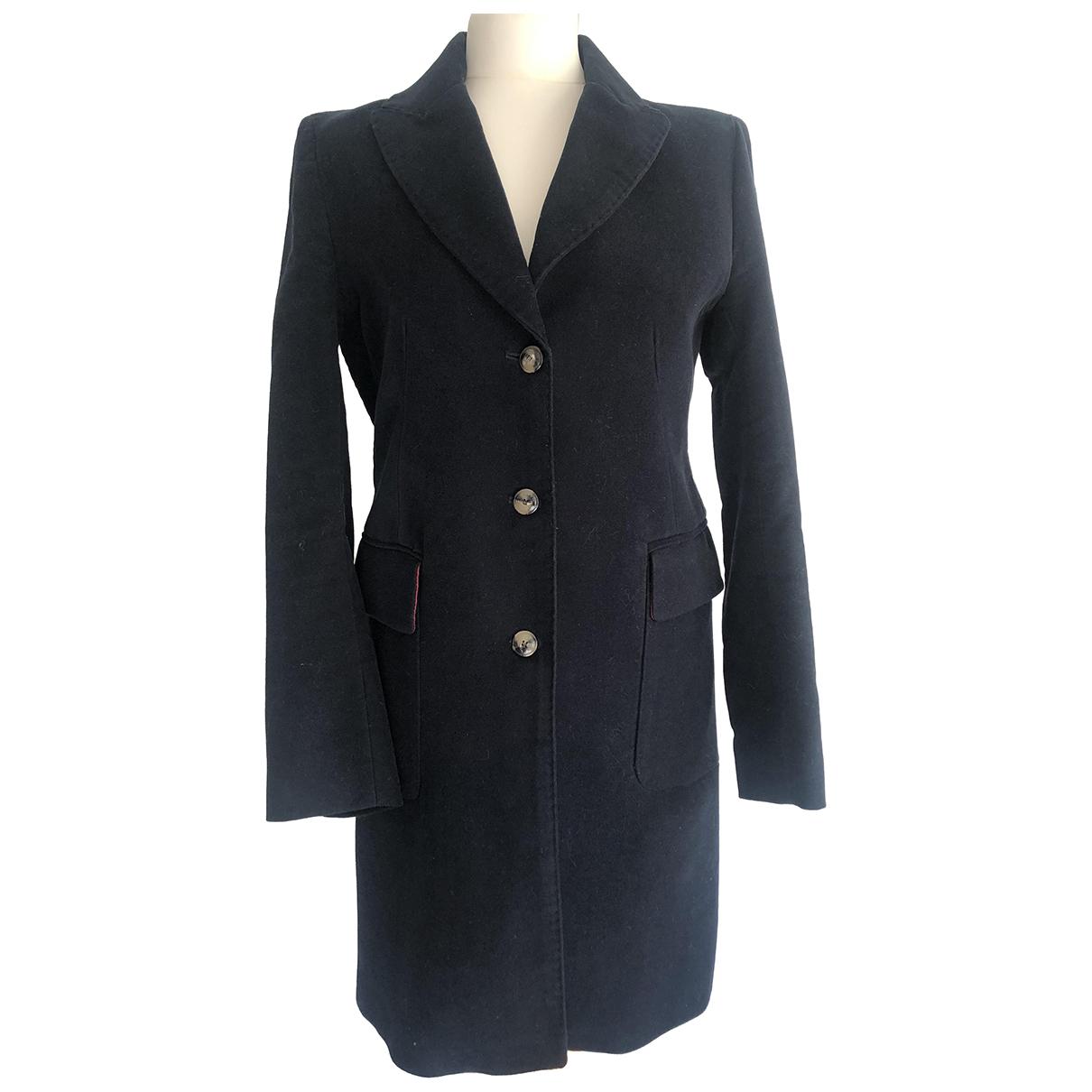 Zara - Manteau   pour femme en coton - marine