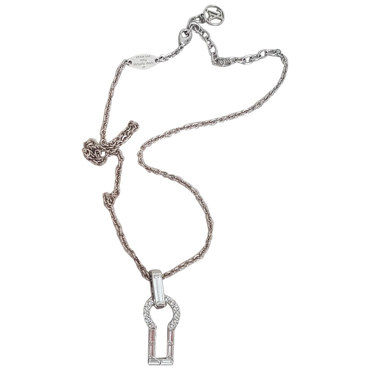 Louis Vuitton Alphabet LV&ME Silver Steel necklace for Women \N