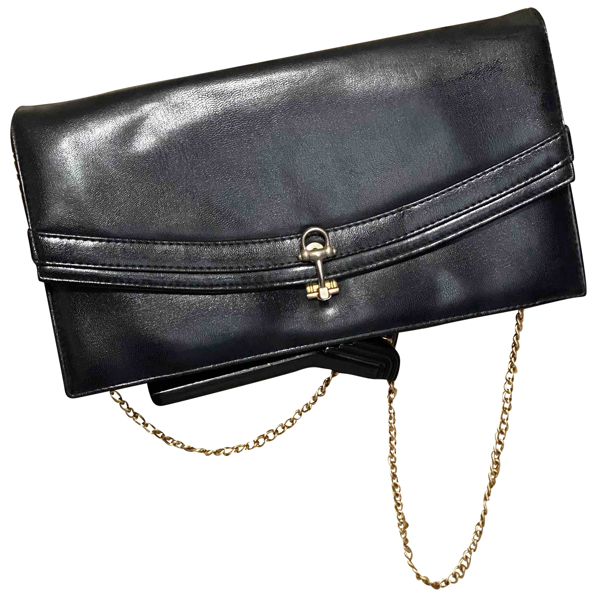 Non Signé / Unsigned \N Blue Leather Clutch bag for Women \N
