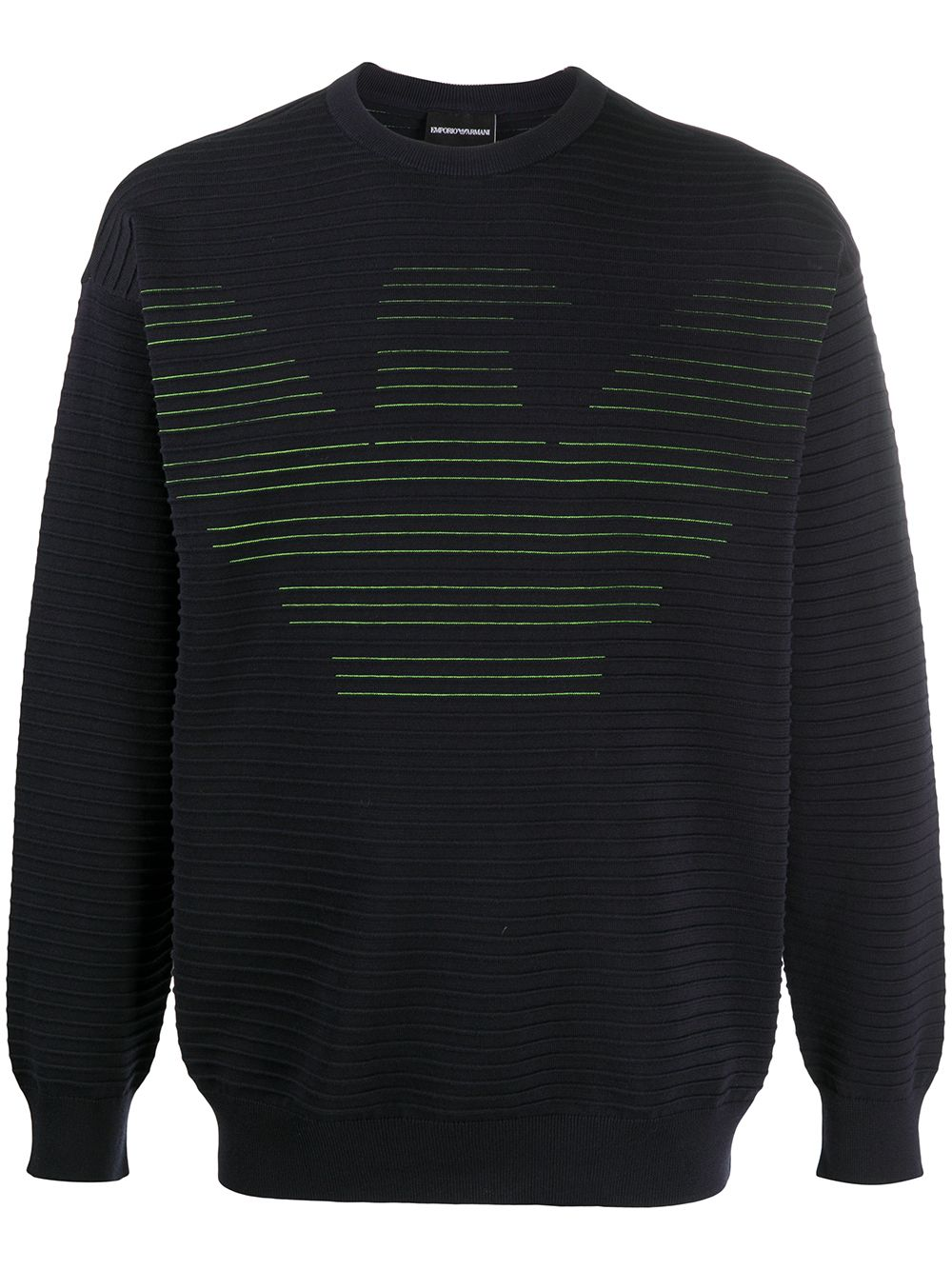 Cotton Roundneck Sweater With Logo