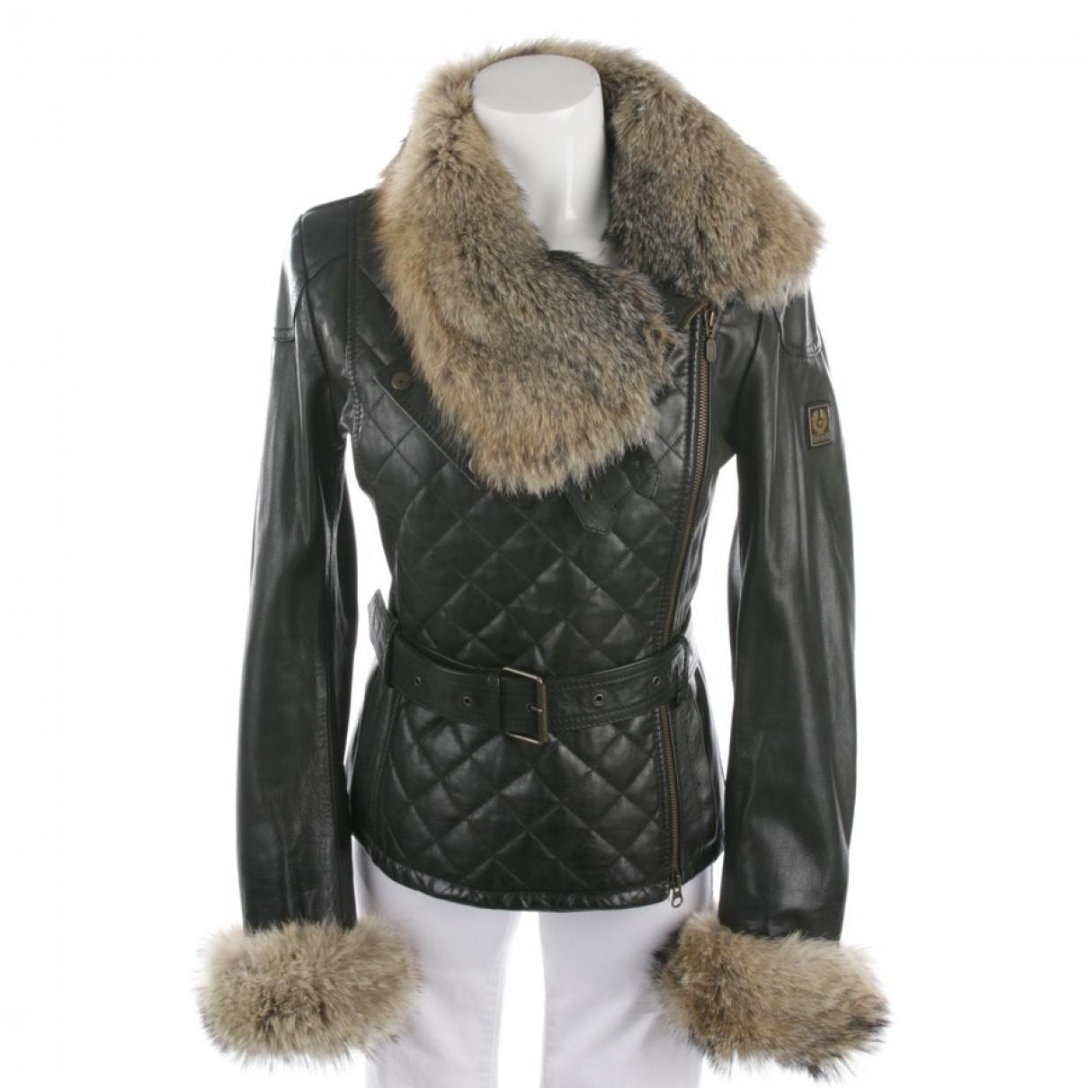 Belstaff \N Brown Leather jacket for Women 36 FR