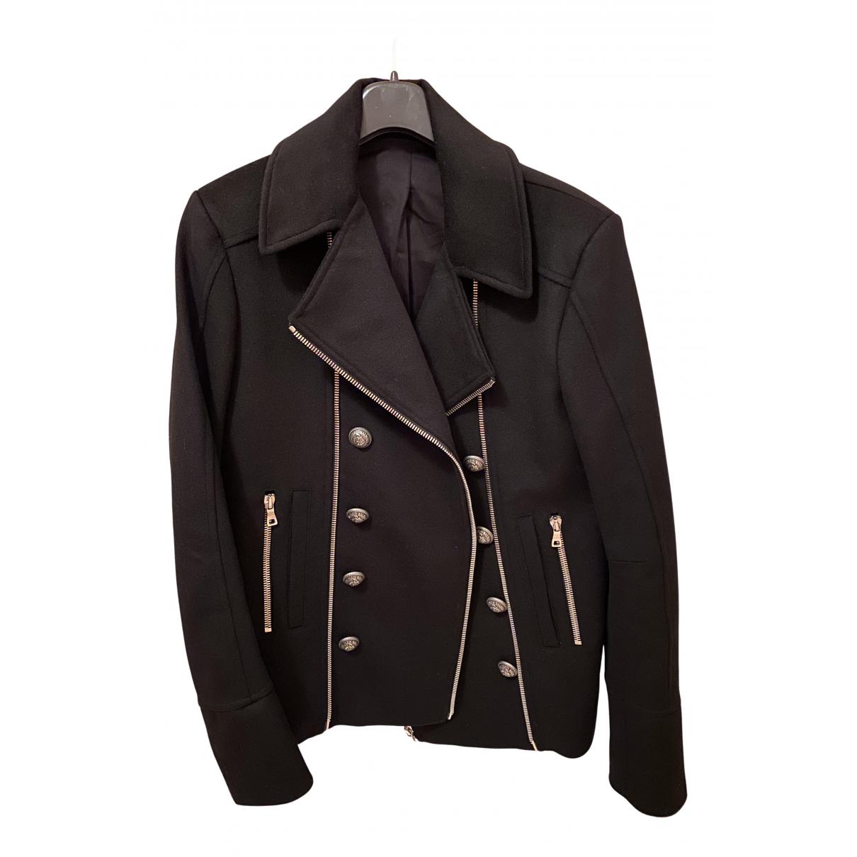 Balmain N Black Wool jacket  for Men 48 IT