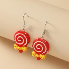 Maedchen Ohrringe mit Lutscher Design