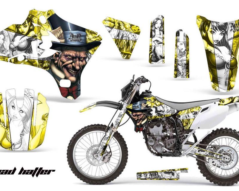 AMR Racing Dirt Bike Graphics Kit Decal Wrap For Yamaha YZ250F YZ450F 2003-2005áHATTER WHITE YELLOW