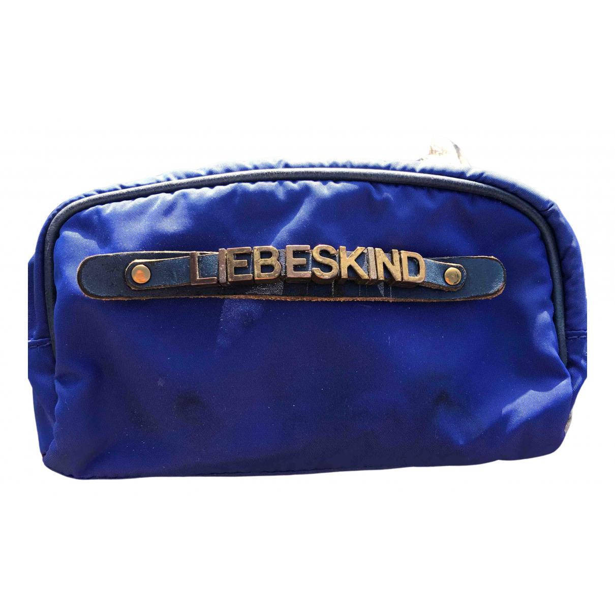 Liebeskind - Petite maroquinerie   pour femme en coton - bleu