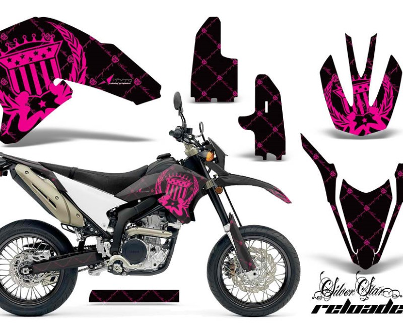 AMR Racing Dirt Bike Decal Graphics Kit Wrap For Yamaha WR250R WR250X 2007-2016áRELOADED PINK BLACK