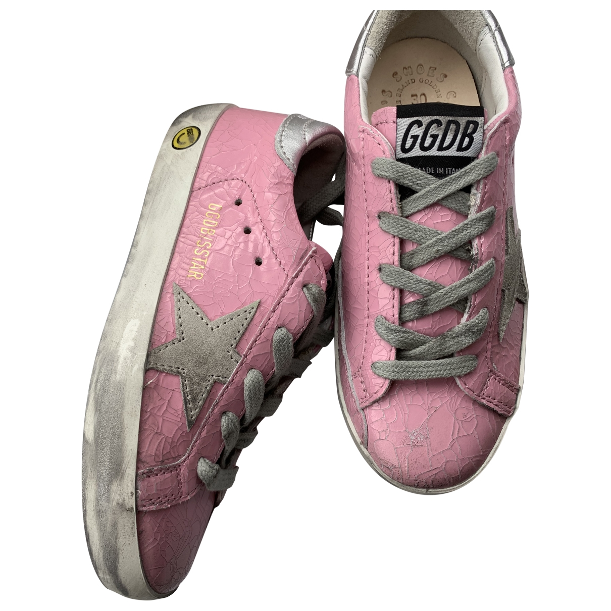 Golden Goose \N Pink Leather Trainers for Kids 30 EU