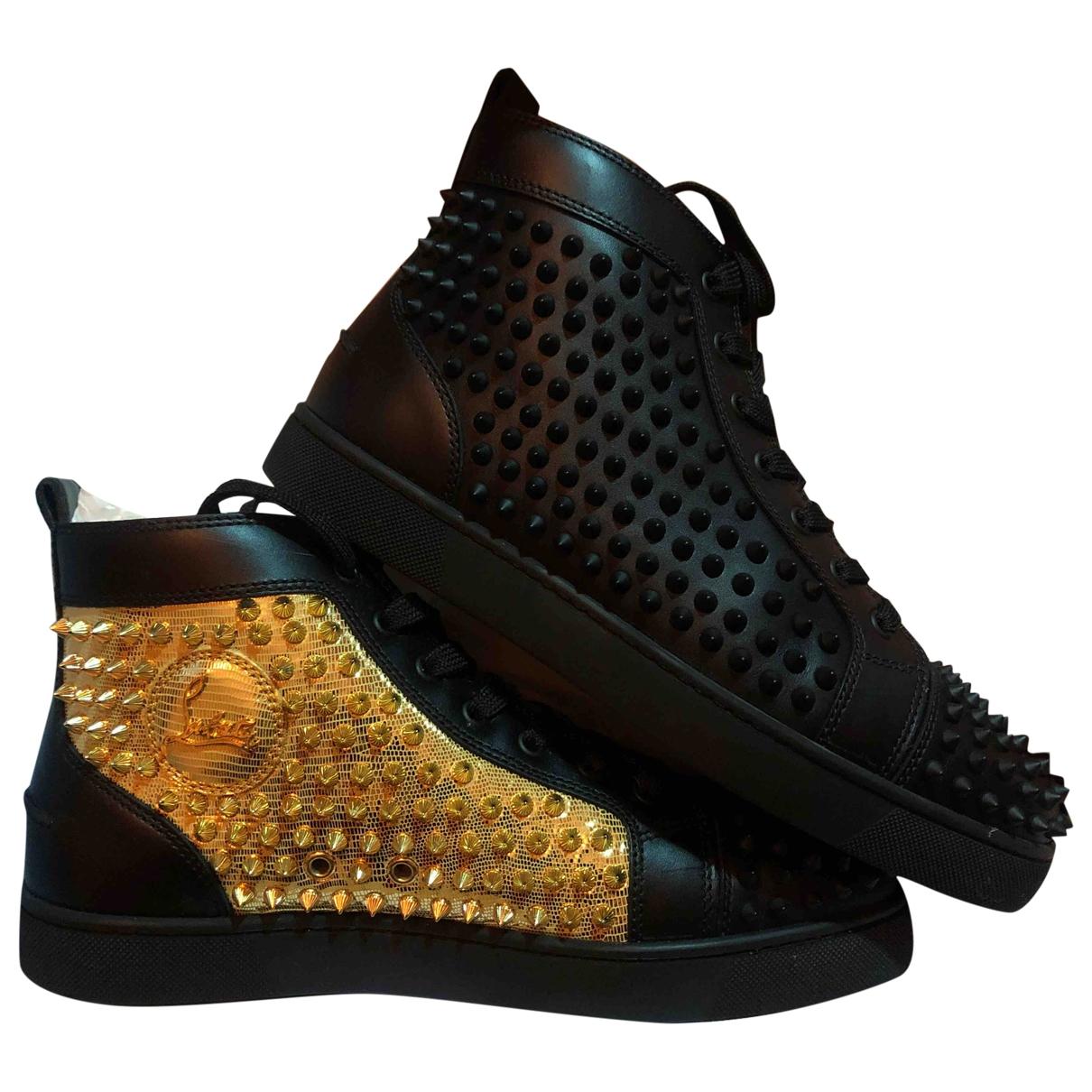 Christian Louboutin - Baskets Louis pour homme en cuir - noir