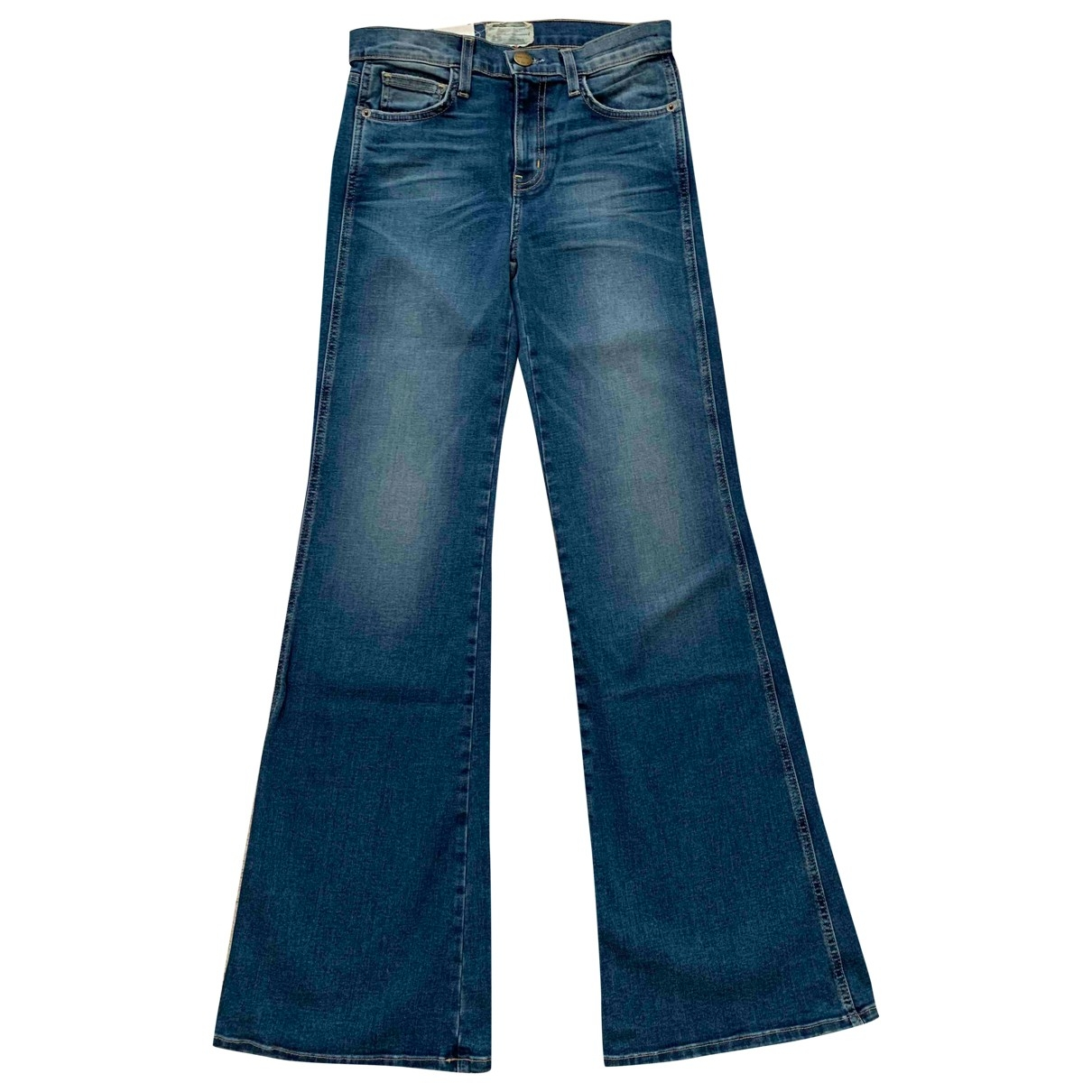 Current Elliott \N Blue Cotton - elasthane Jeans for Women 26 US
