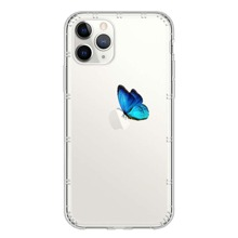 1pc Butterfly Print Clear iPhone Case