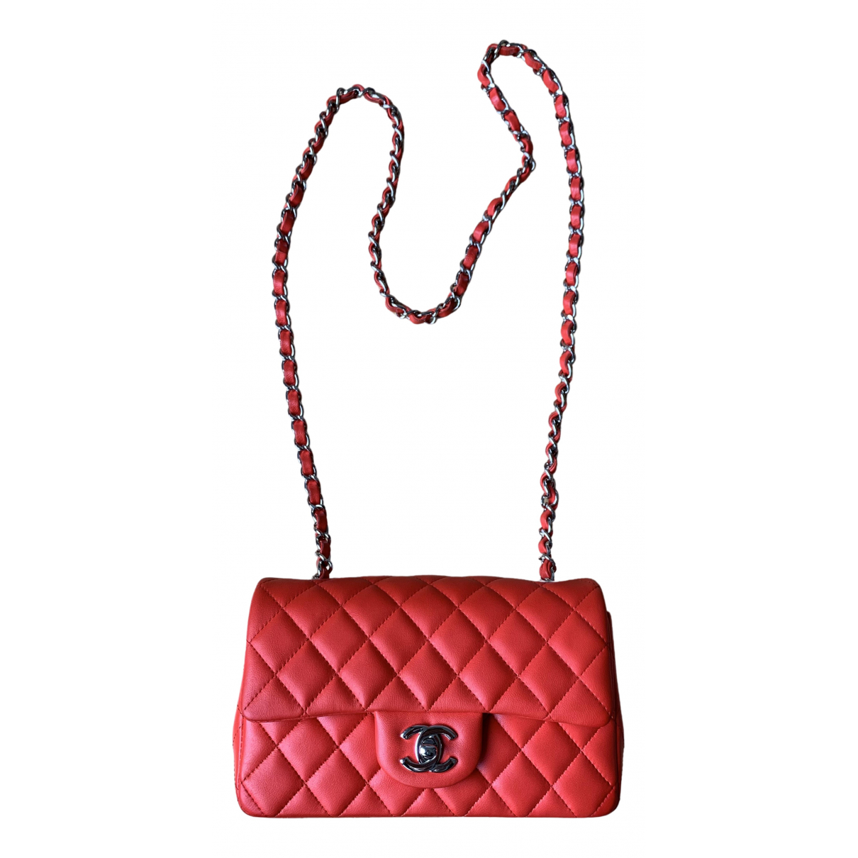 Chanel - Sac a main Timeless/Classique pour femme en cuir - rouge