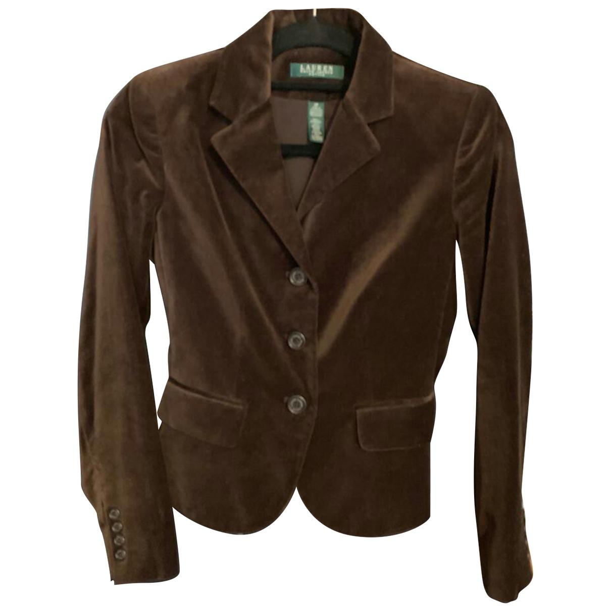 Lauren Ralph Lauren \N Brown Velvet jacket for Women 34 FR