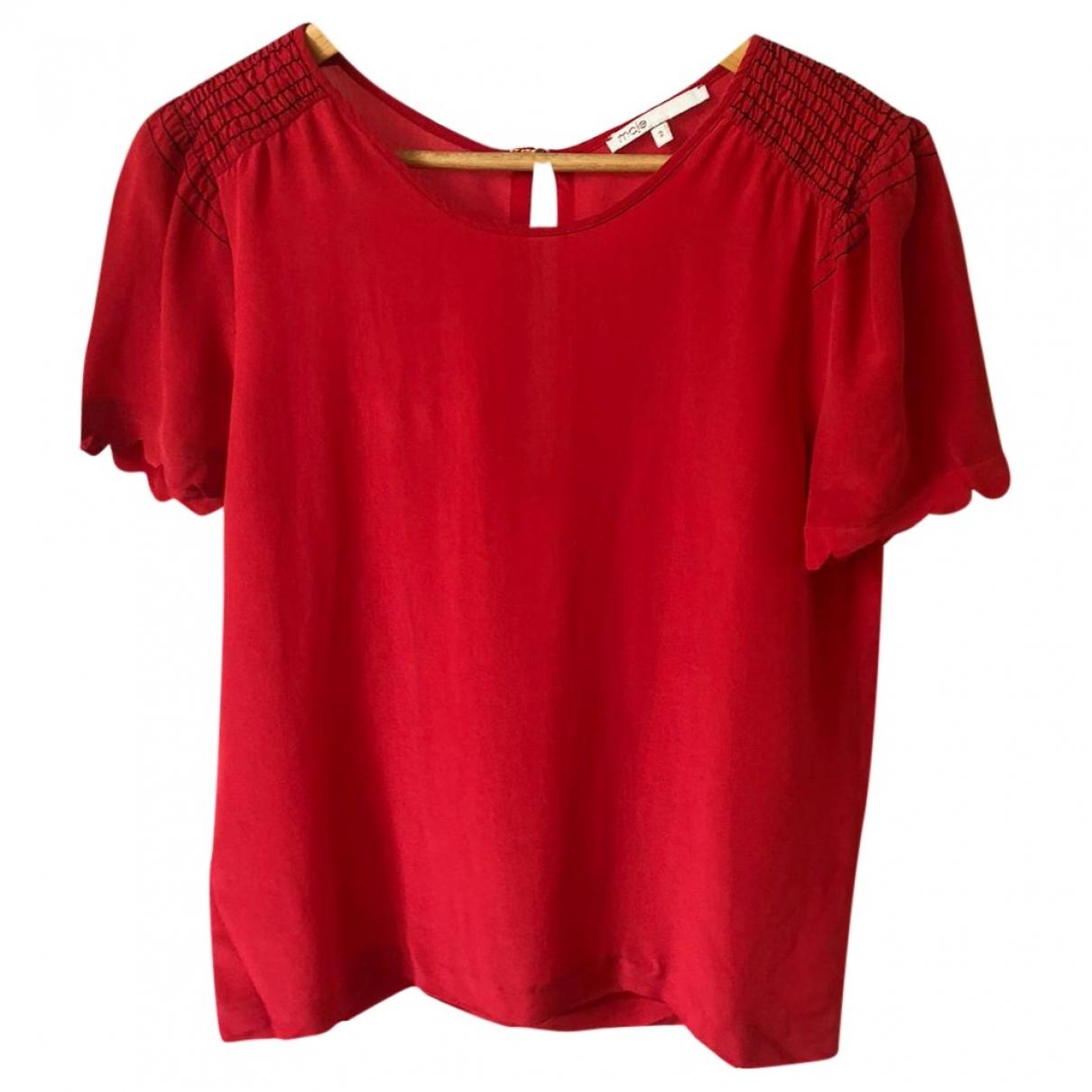 Maje - Top Spring Summer 2020 pour femme en soie - rouge