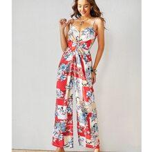 Cami Jumpsuit mit Twist vorn und Blumen Muster