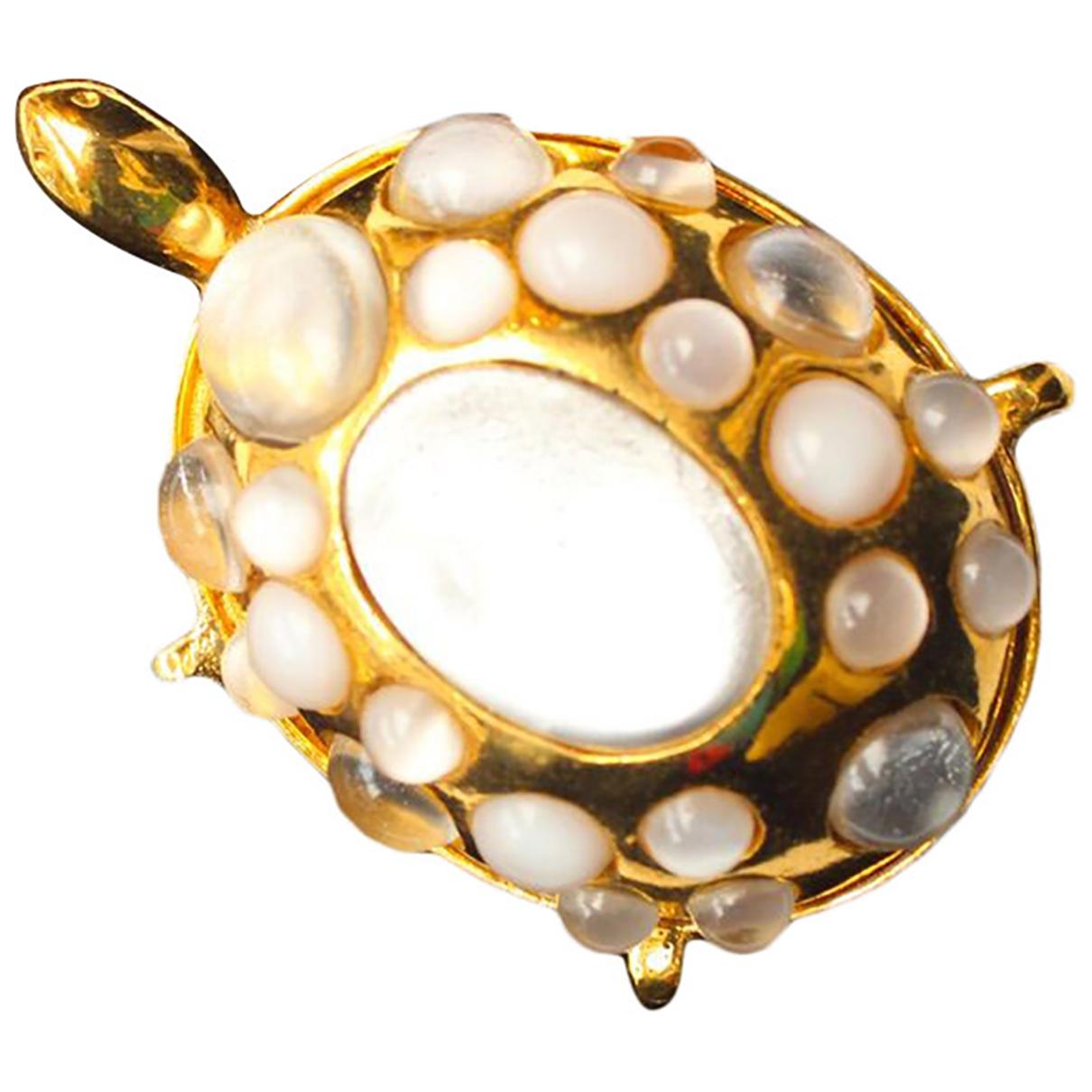 Valentino Garavani \N Gold Metal Pins & brooches for Women \N