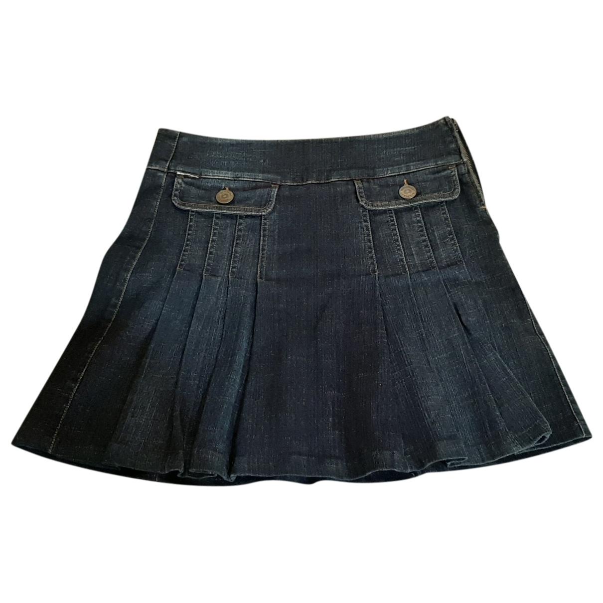 Burberry \N Blue Cotton skirt for Women 40 IT