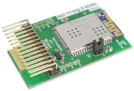 Microchip AC164149, MRF24Wx0MA WiFi Daughter Board PICTail Plus for Explorer 16, PIC32 Starter Kit, PICDEM.net2