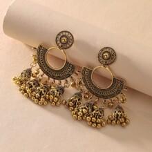 Tribal Tassel Drop Jhumka Earrings
