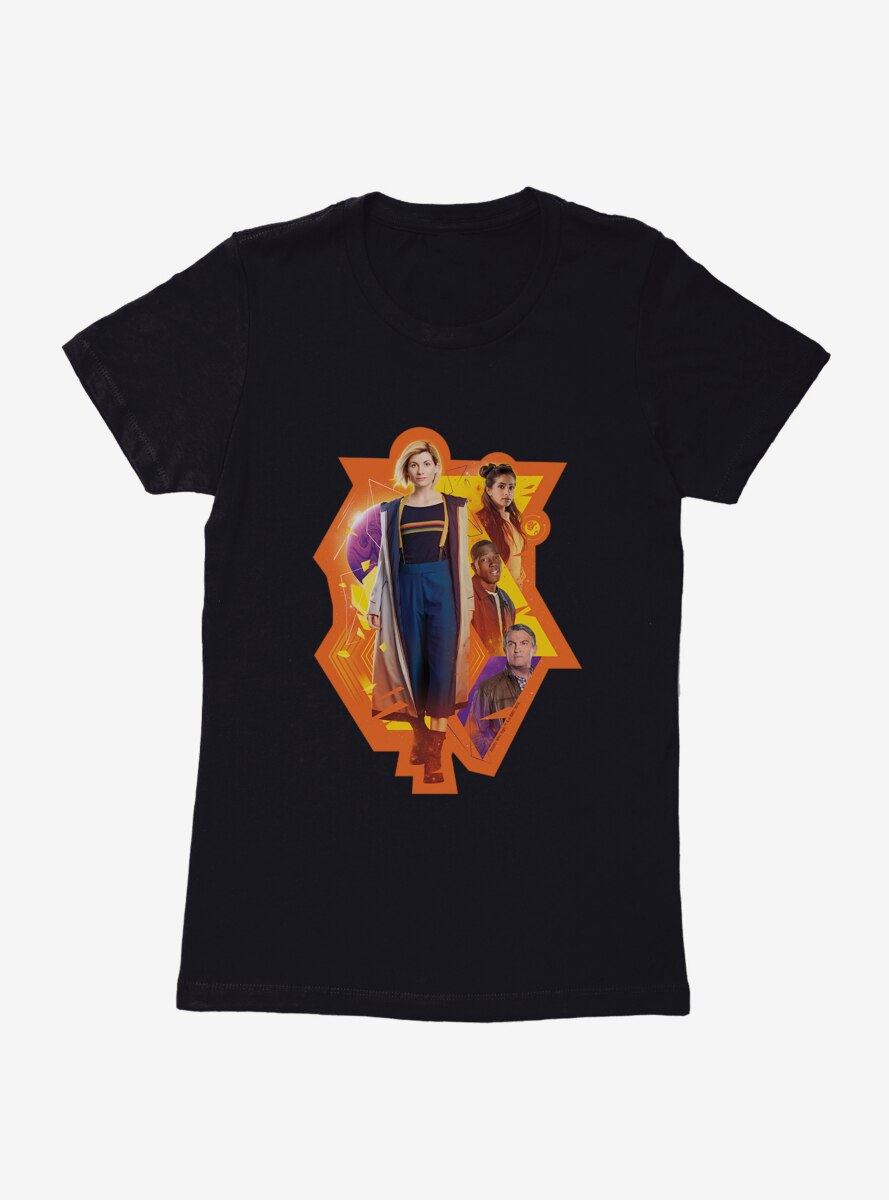 Doctor Who The Thirteenth Doctor And Crew Womens T-Shirt