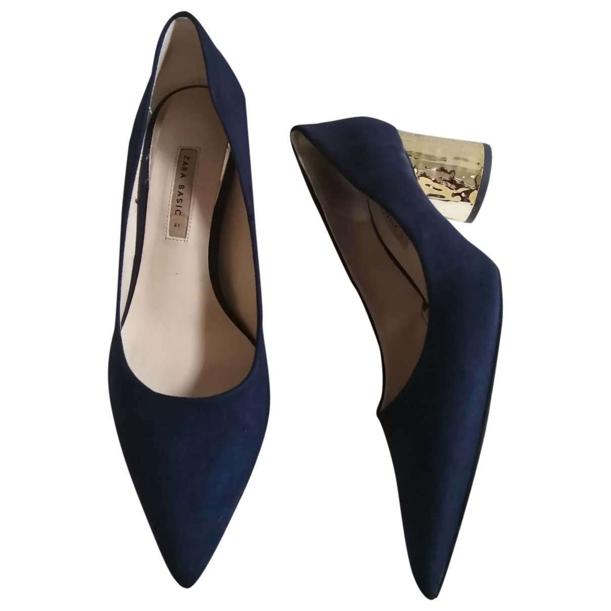 Zara \N Blue Cloth Heels for Women 41 EU