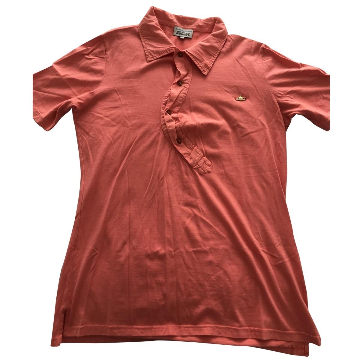 Vivienne Westwood - Polos   pour homme en coton - rose