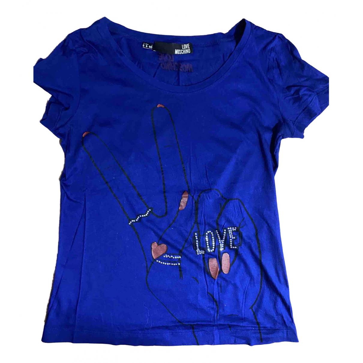 Moschino Love - Top   pour femme en coton - bleu