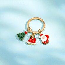 Llavero con campana de Navidad