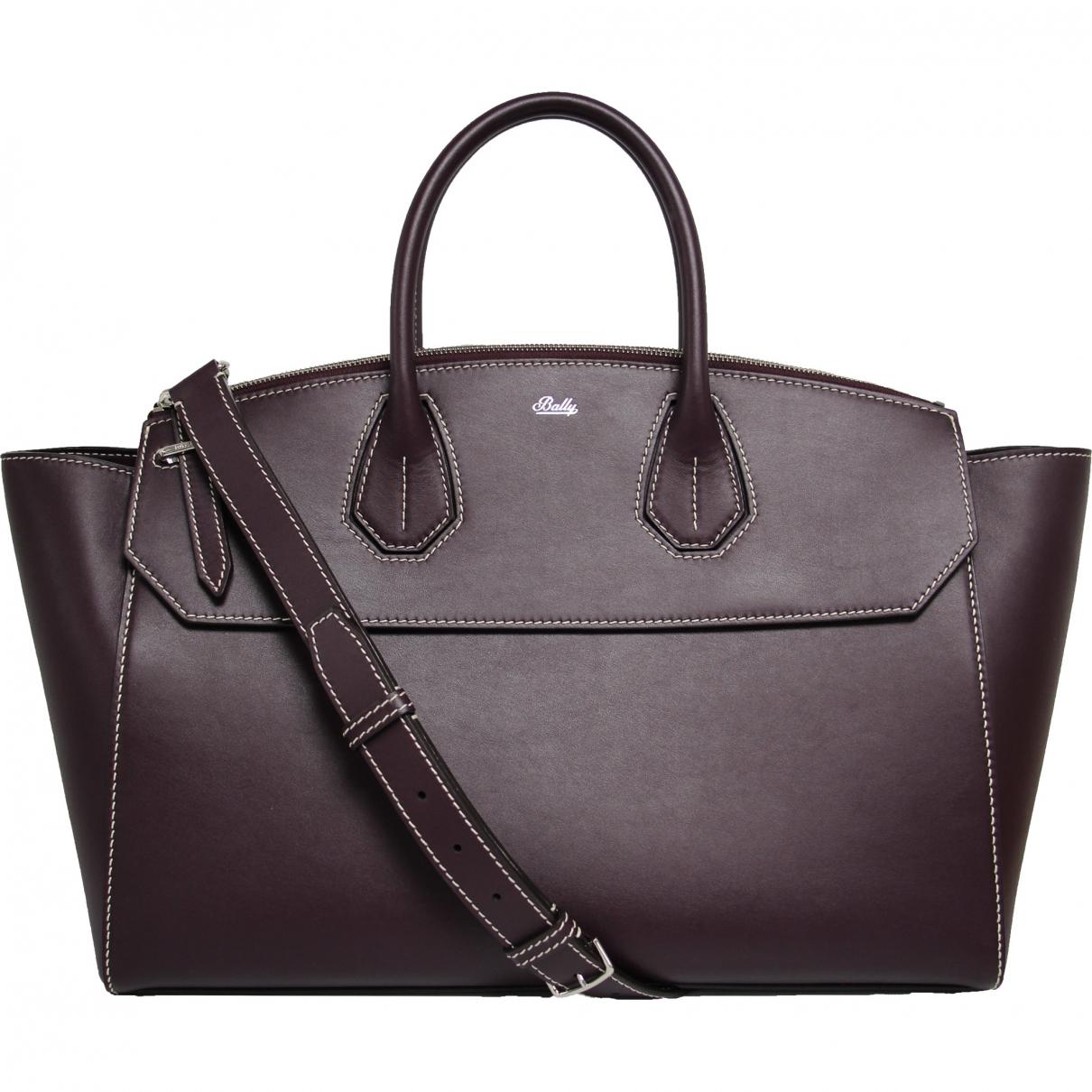 Bally \N Purple Leather handbag for Women \N