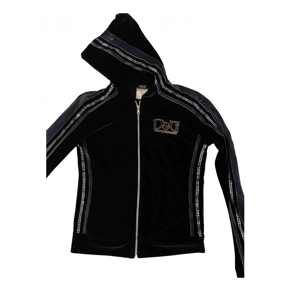 D&g \N Black Velvet jacket for Women 42 IT