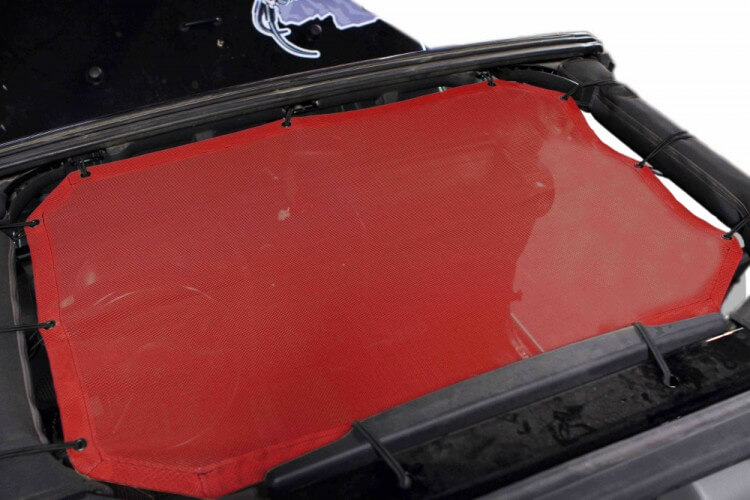 Steinjager J0043984 Tops, Fabric Teddy Wrangler JK 2007-2009 Front Seats only Red
