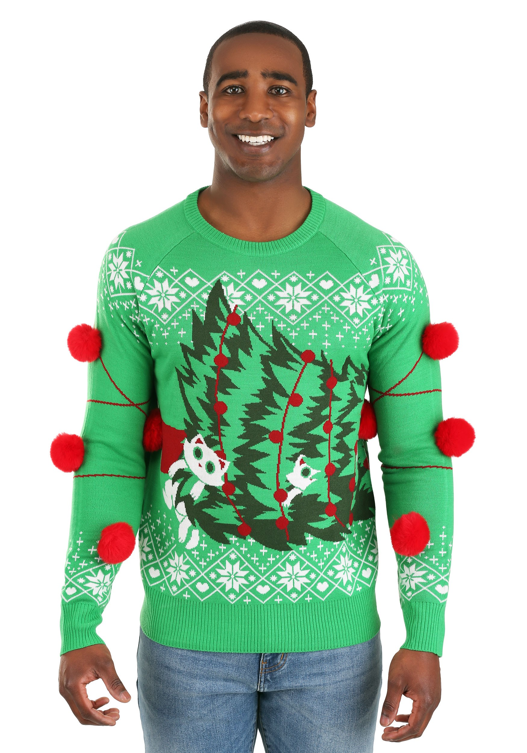 Adult Kitty Trouble Ugly Christmas Sweater