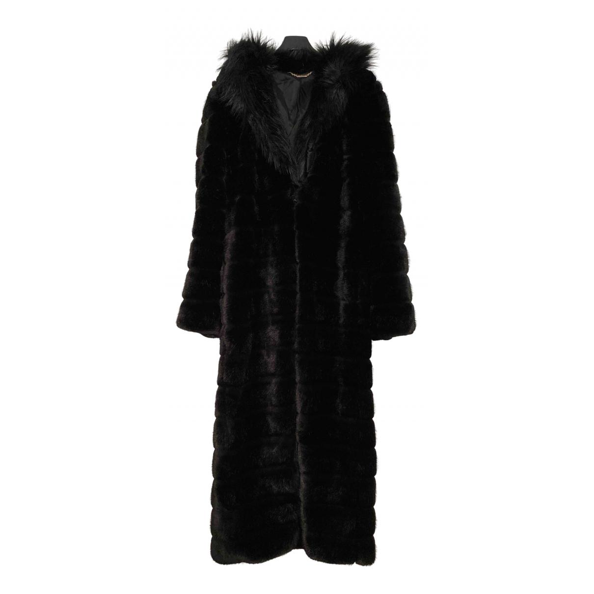 Mangano \N Black Faux fur coat for Women 40 IT
