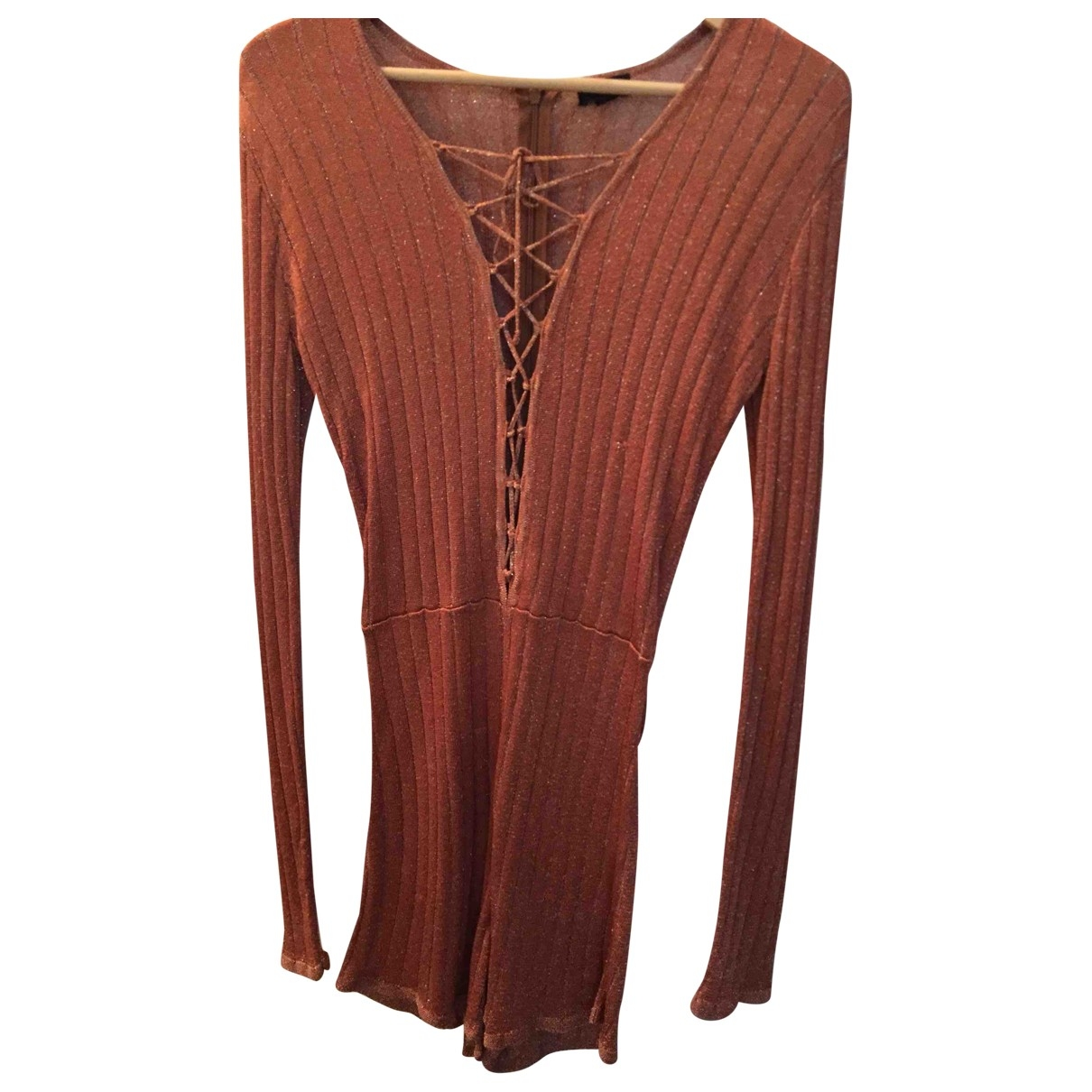 Nbd - Combinaison   pour femme en laine - orange