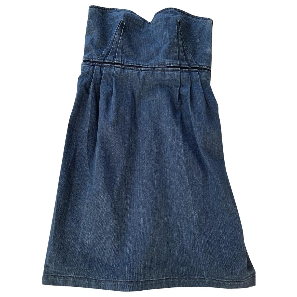 Lanvin \N Kleid in  Blau Denim - Jeans