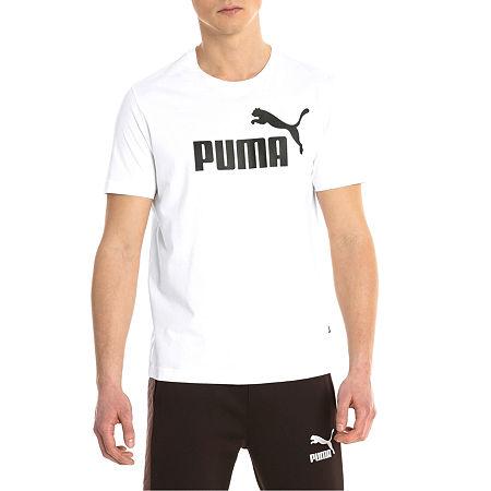 Puma-Big and Tall Mens Crew Neck Short Sleeve T-Shirt, 5x-large Tall , White