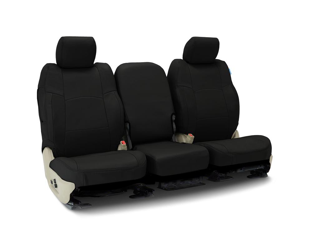 Coverking CSC1L1CH10174 Custom Seat Covers 1 Row Genuine Leather Black Rear Chevrolet Silverado 1500 2019-2021