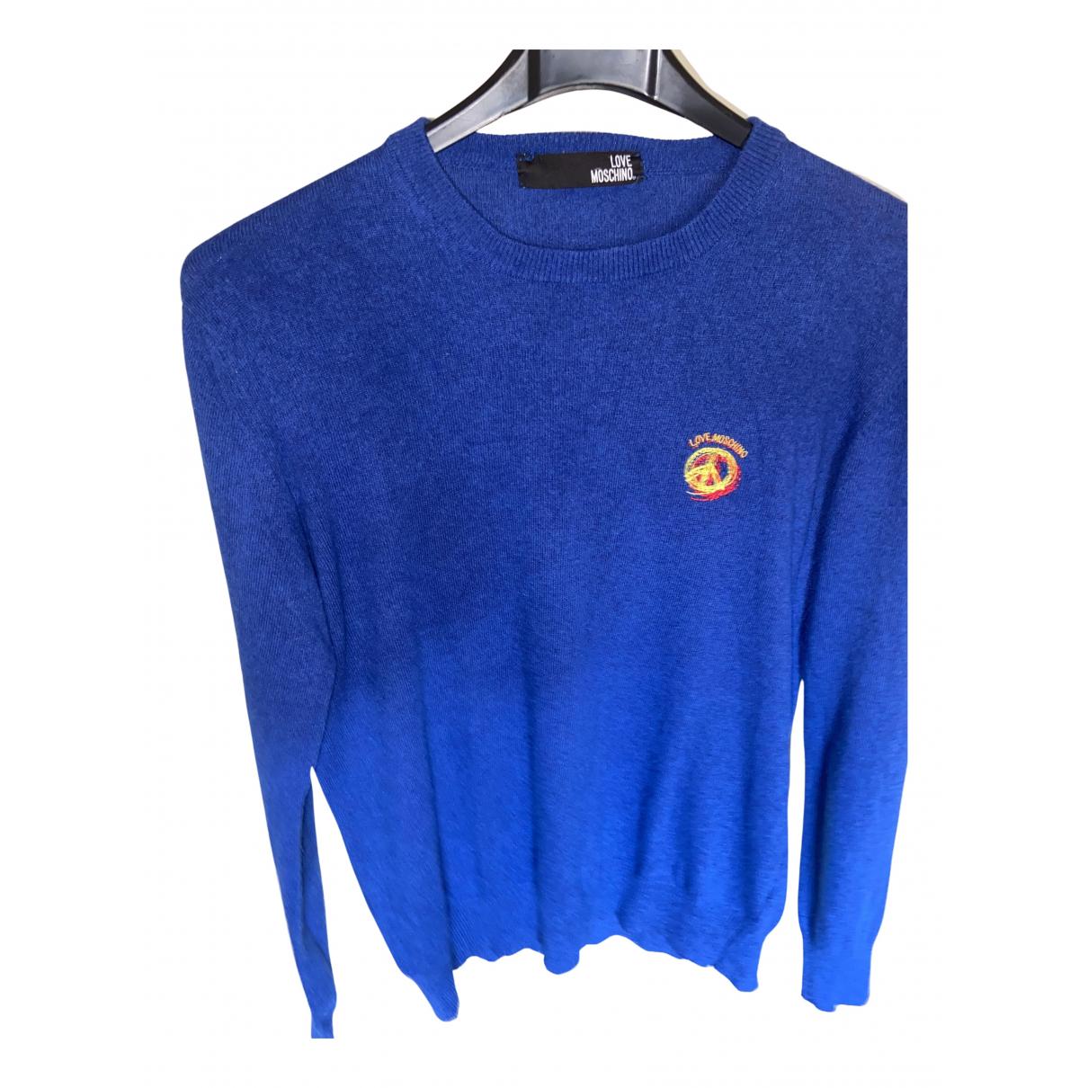 Moschino Love \N Pullover.Westen.Sweatshirts  in  Blau Polyester