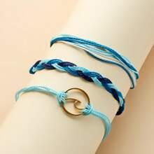 3 Stuecke Maedchen Armband mit Welle Dekor