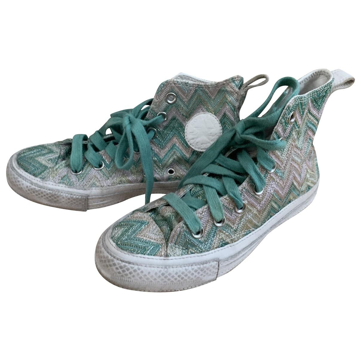 Missoni X Converse - Baskets   pour femme en a paillettes - vert