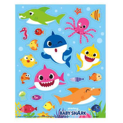 Feuilles d'autocollants bébé requin, 4 pièces