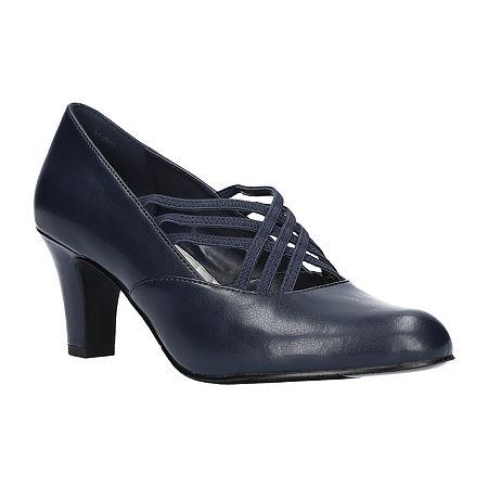 Easy Street Womens Rumer Pumps Spike Heel, 8 Medium, Blue