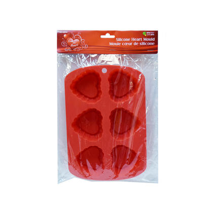 Vtines 6-Cavity Silicone Heart Moulds