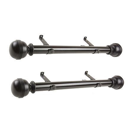 Rod Desyne (Set Of 2) Jovian 1 1/2 IN Curtain Rod, One Size , Black