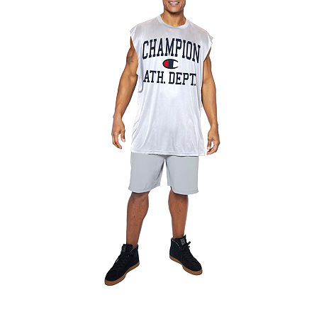 Champion Mens Crew Neck Sleeveless Muscle T-Shirt Big and Tall, 2x-large Tall , White