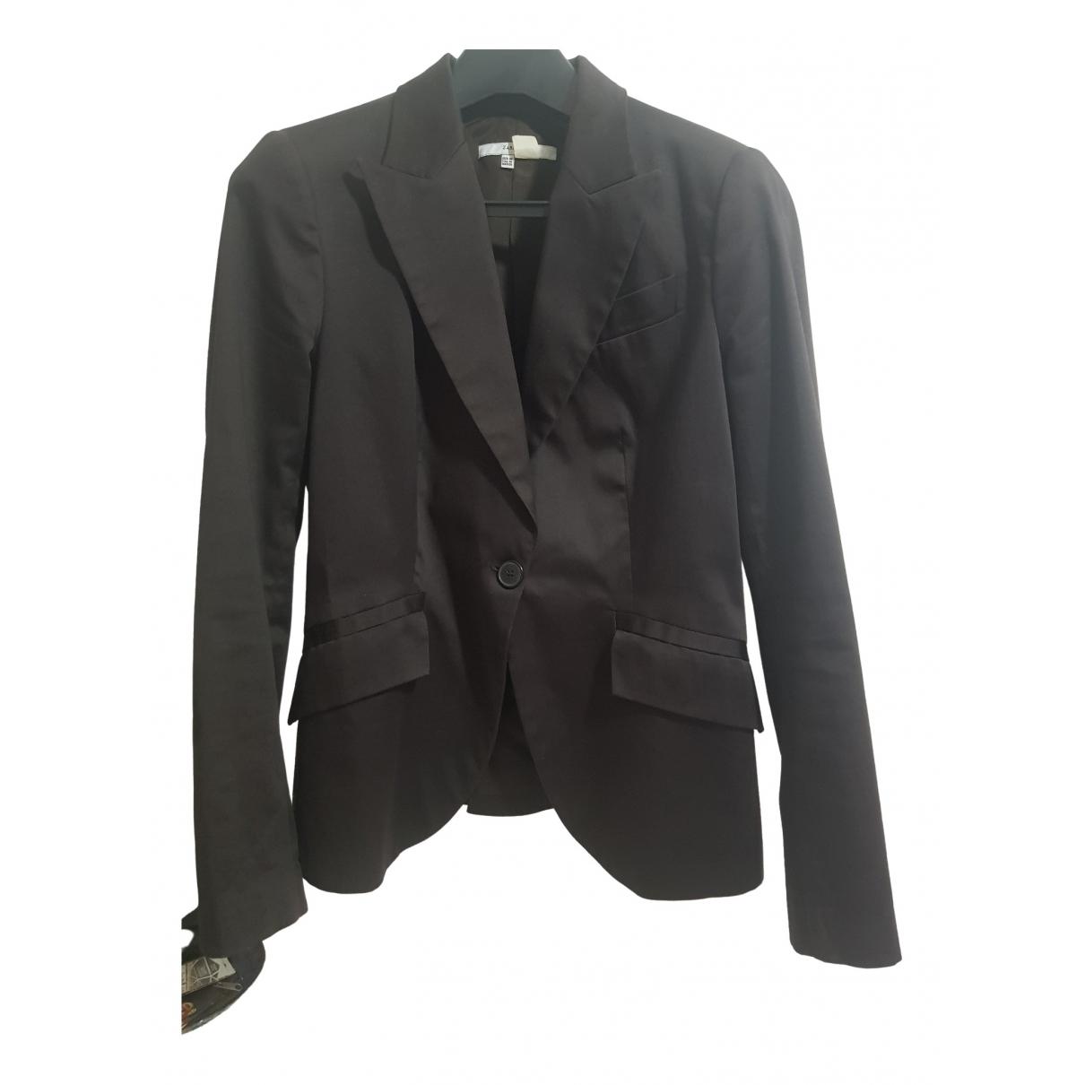 Zara \N Brown Cotton jacket for Women M International