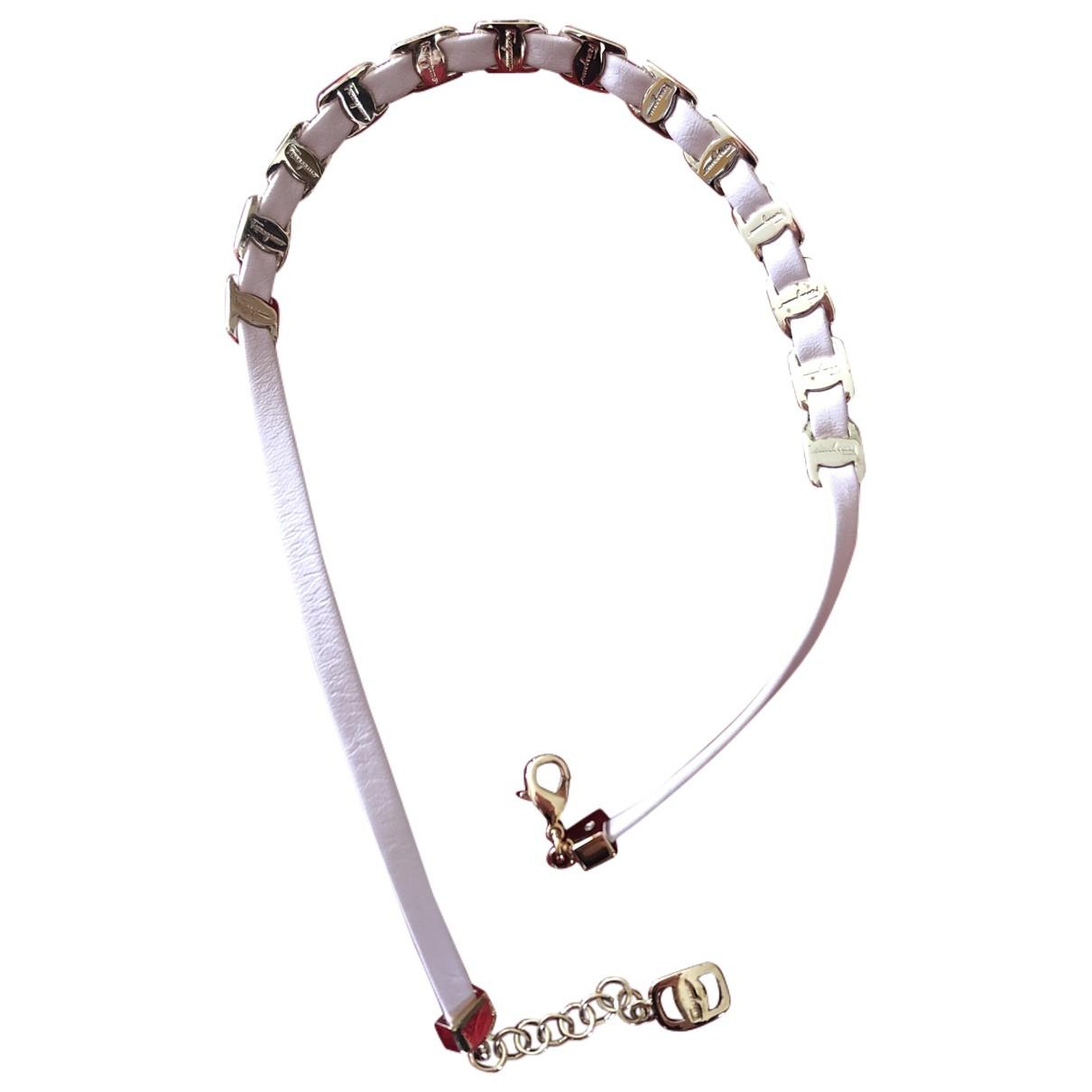 Salvatore Ferragamo - Bracelet   pour femme en cuir - rose