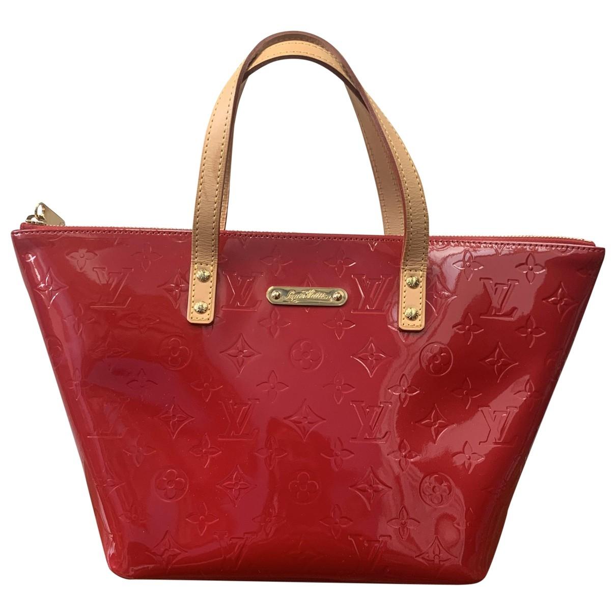 Louis Vuitton - Sac a main Bellevue pour femme en cuir verni - rouge